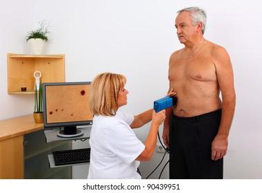 medical examination of birthmark