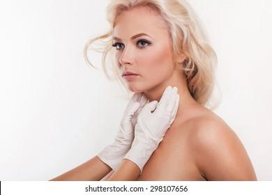 medical examination of cervical lymph nodes in women