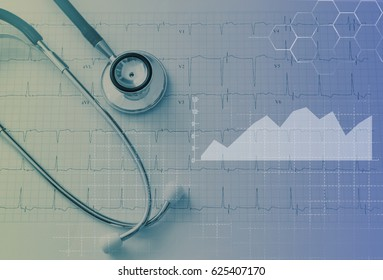Medical examination and healthcare business graph
