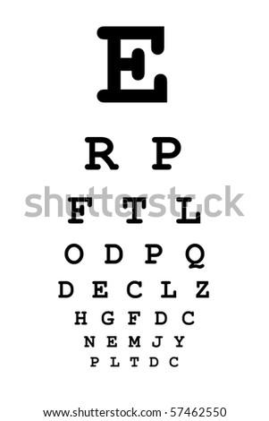 Medical Eye Chart Vision Testing Stock Photo Edit Now 57462550