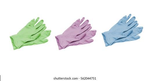 medical gloves on white background