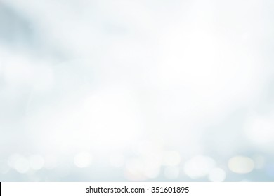 Medical health care concept: Abstract blur white snow with bokeh light winter texture background