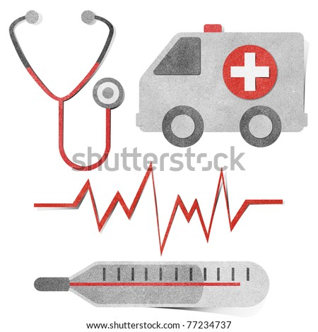 Medical Healthcare Tag Recycled Paper Craft Stock Photo Edit Now
