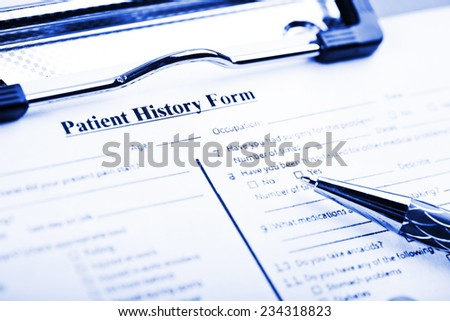 medical history questionnaire stock photo edit now 234318823
