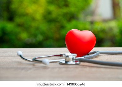Medical icon concept in the heart of family's hands