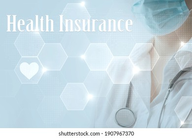 Medical insurance. The patient enters into a contract policy for medical care online, remotely. Medicine online in coronavirus covid 19, lockdown, quarantine