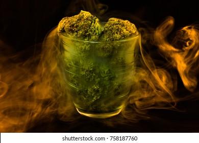 Medical Marijuana in the glass