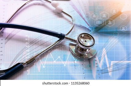 Medical marketing and Health care business analysis report. Medical marketing concept