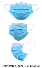 Medical mask isolated on white background, Corona protection,  With clipping path - Shutterstock ID 1654359583