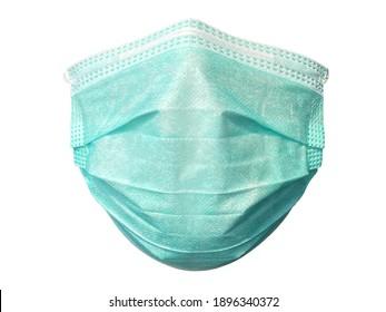 Medizinische Maske einzeln auf weißem Hintergrund