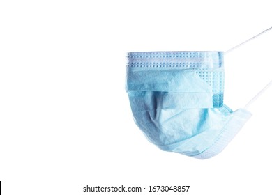 Medical mask. Medical protective masks isolated on white background. Healthcare and medical concept. Protective face mask. Medical protective shielding bandage