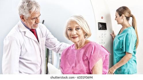 Medical mri test. Patient undergoing scan.