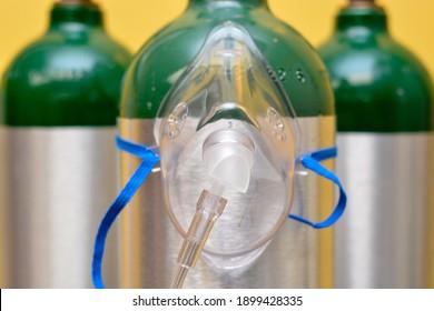 Medical Oxygen Mask on Medical Oxygen Cylinder
