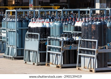Medical Oxygen Tanks Stock Photo (Edit Now) 290139419