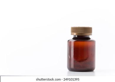 Medical pills, lots of medicine in bottle