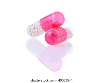 medical pills and tablets isolated on white