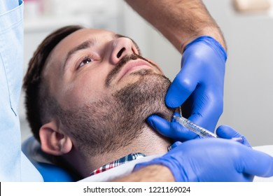 Medical procedure with hyaluronic acid.
