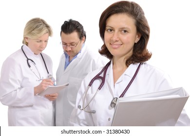 medical professionals with stethoscopes