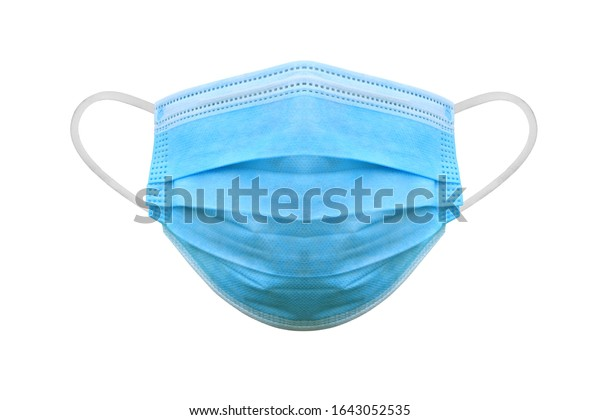 Medical protective mask on white background, Prevent Coronavirus, protection factor for wuhan virus, With clipping path