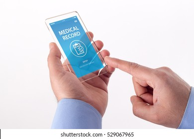 MEDICAL RECORD CONCEPT ON SCREEN