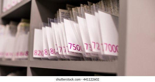 Medical records with number