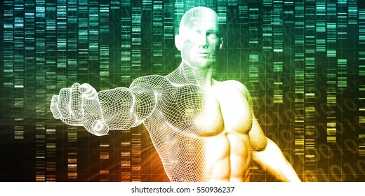 Medical Research in Genetics and DNA Science as Concept 3D Illustration Render
