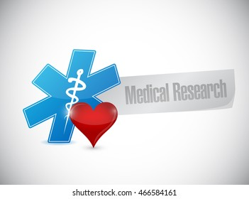 Medical research isolated sign illustration design graphic