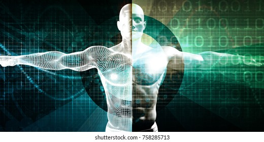 Medical Research on the Human Body as Concept 3D Render