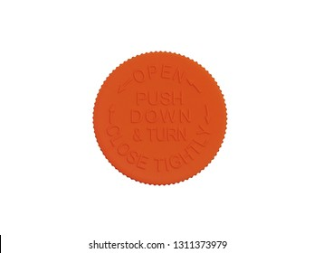 medical safety cap with a warning sign, on a white background