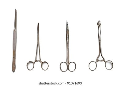 Medical Scissors over the white background