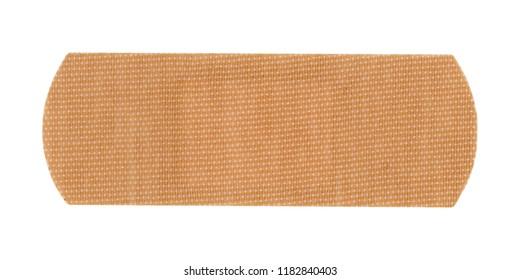 a medical self adhesive bandage band aid isolated over white background