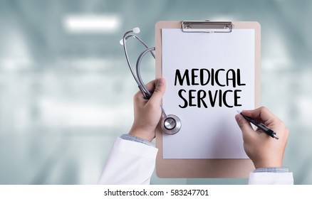MEDICAL SERVICE  Healthcare  modern medical  Doctor concept ,