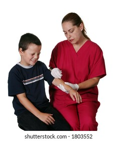 Medical Staff Giving Boy Insulin Injection