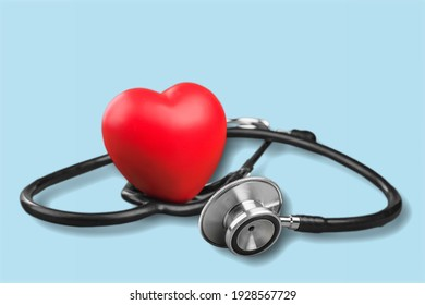 Medical Stethoscope and shape Heart toy
