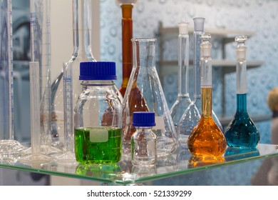 Medical store medicines in small bottles