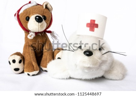 Medical Stuffed Toys Child Protection Against Stock Photo (Edit Now ... d326ab54749e
