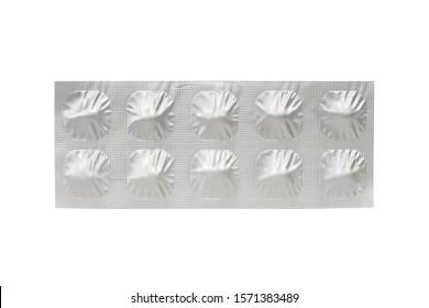 Medical tablet in aluminum foil strip