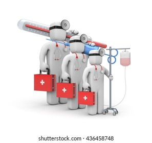 Medical team. 3d illustration