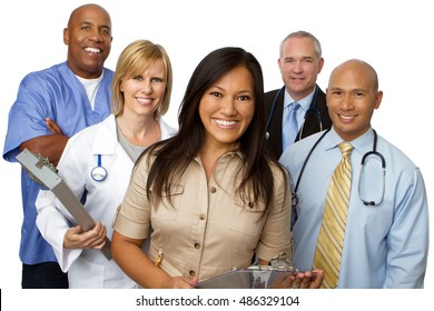 Medical Team. Diverse Group of Medical Care Providers.