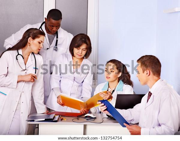 Medical team of doctor in hospital.