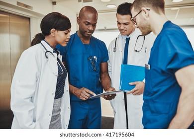 Medical team having a emergency meeting at hospital
