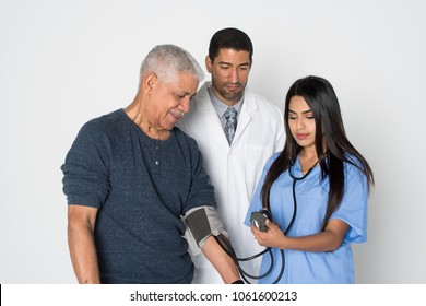 Medical team in a hospital working with their patient