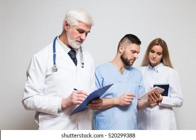 medical team studio different emotions