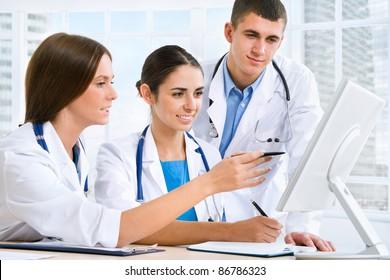 Medical team working in hospital