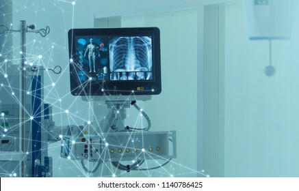 Medical technology concept. Medical instruments.