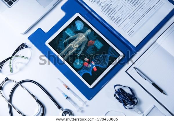 medical technology concept, regenerative medicine, 3D rendering