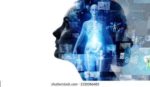 Medical technology concept. Remote medicine. Electronic medical record. - Shutterstock ID 1530386483