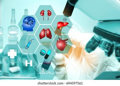 Medical technology concept,Innovative,network hospital