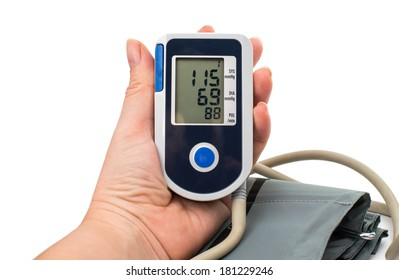 Medical tonometer on a white background