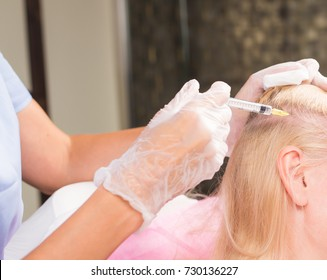medical treatment of hair loss, stimulating injection for Hair growth